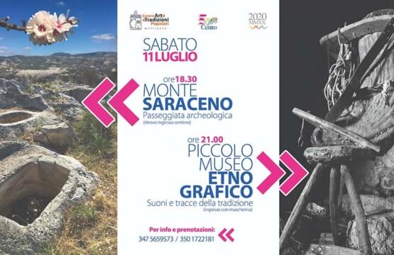 """""""Estate al Centro 2020"""", passeggiata archeologica presso Monte Saraceno"""