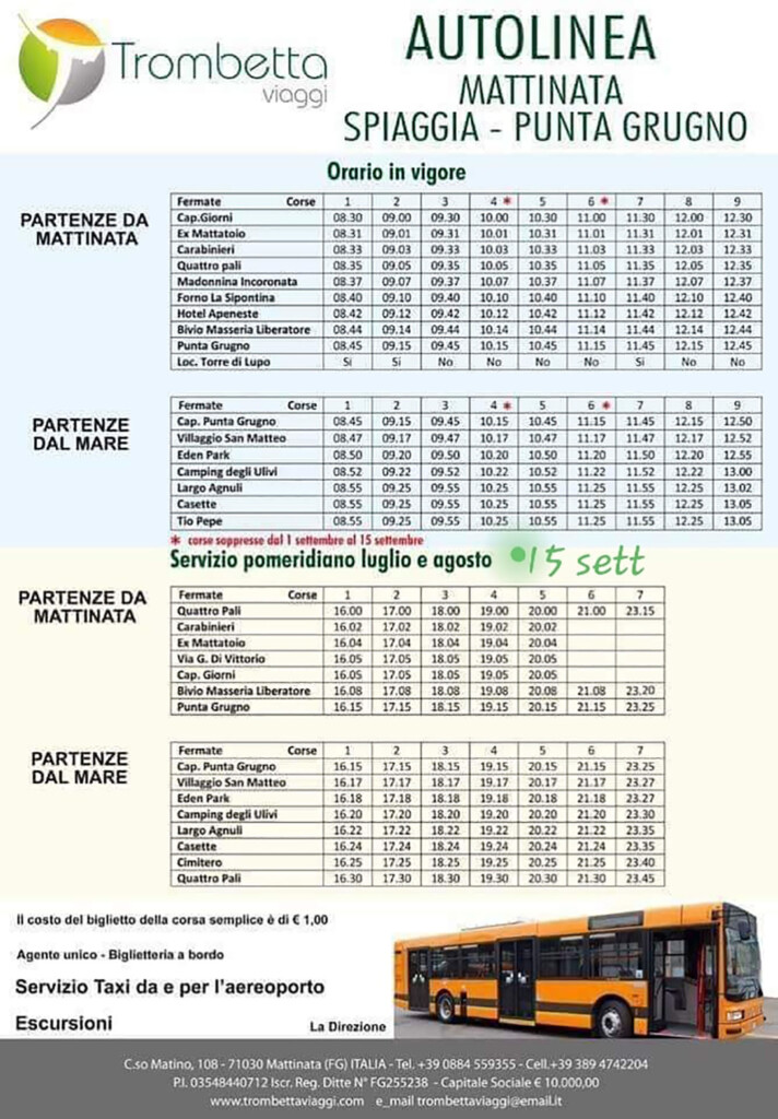 Orari City Bus Mattinata
