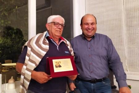Carmine Zaffarano e Michele Vitarelli, presidente del Comitato Festa Patronale
