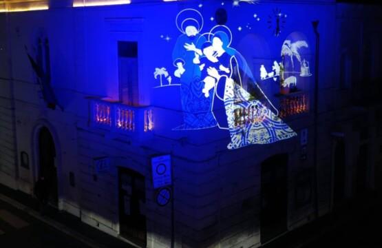 Video-installazione permanente del Presepe su Palazzo Barretta
