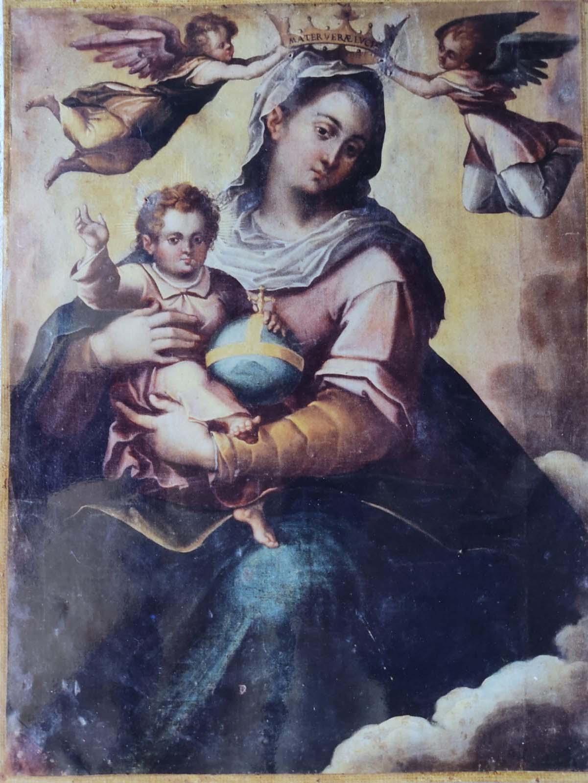 Tela originale della Madonna della Luce rubata nel 1971