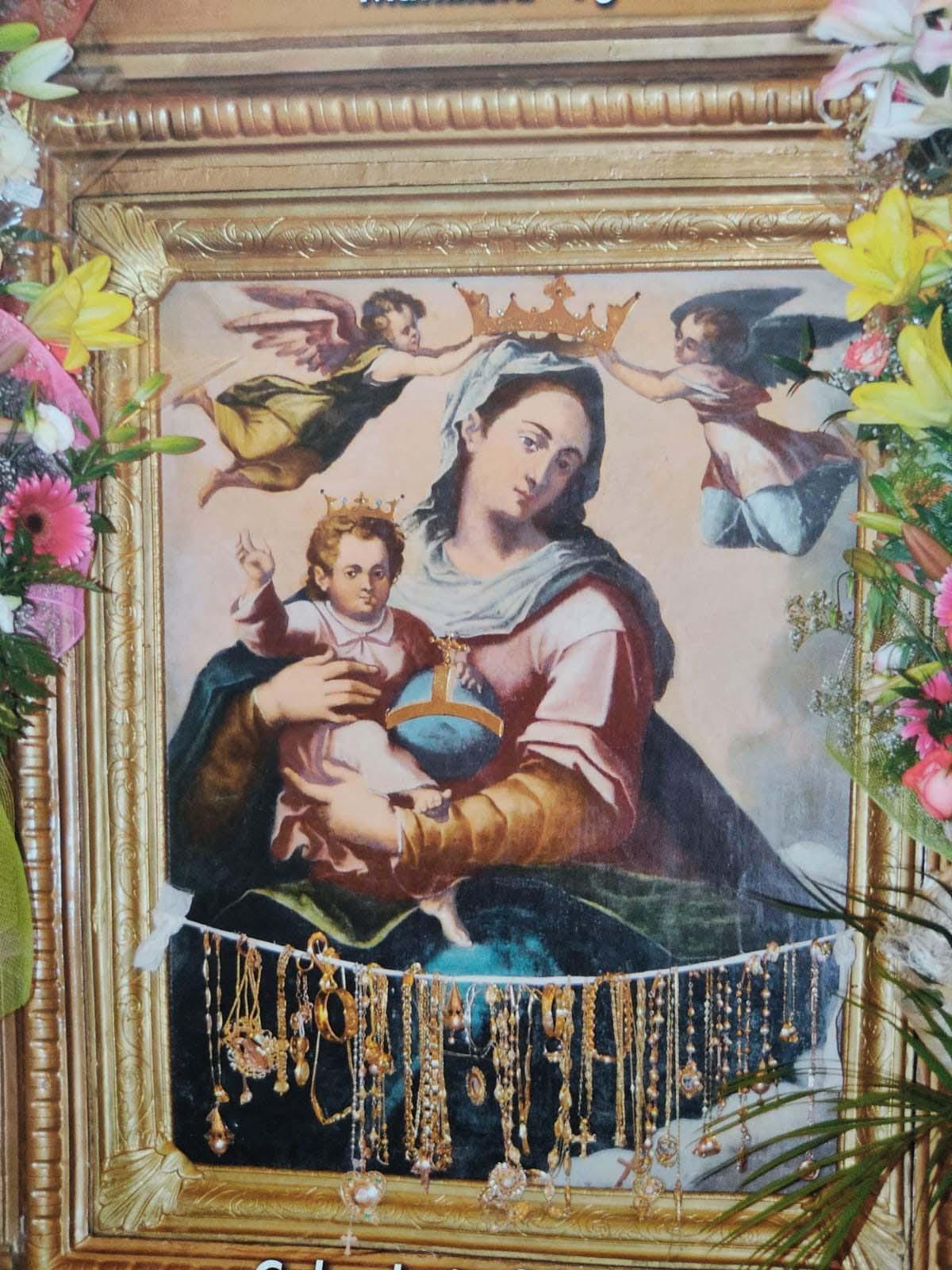 Copia della Madonna della Luce su legno commissionata dopo il furto e realizzata dalla stamperia Fratelli Alinari di Firenze, ancora oggi venerata dal popolo mattinatese