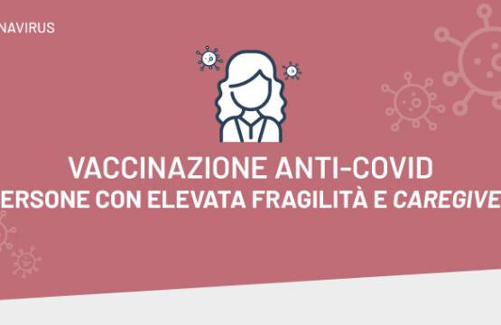 Campagna vaccinale per le persone con elevata fragilità
