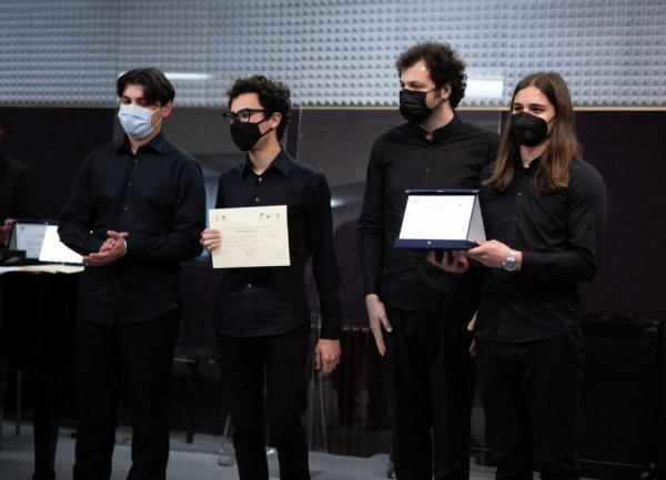 Il Quartetto Yule: Antonio Bruno, Antonio Russo, Riccardo Cavaliere, Sante Leone